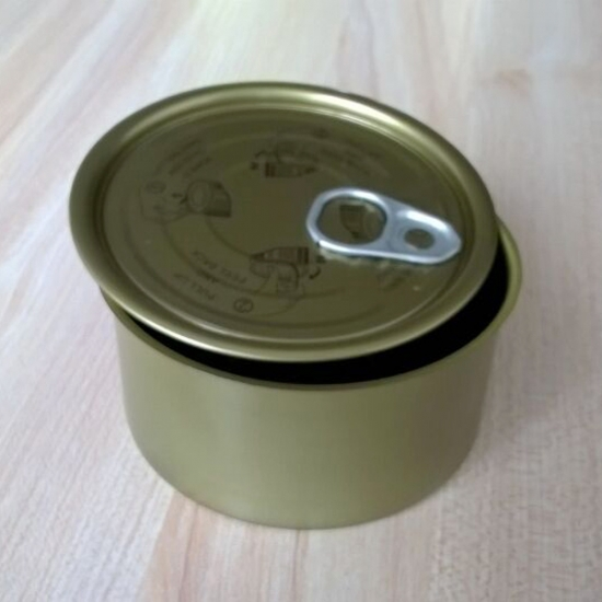 843# 2pc Round Food Tin Cans With EOE Open Lids