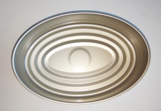 601# Empty Fish Oval Tin Can For Fish Canning
