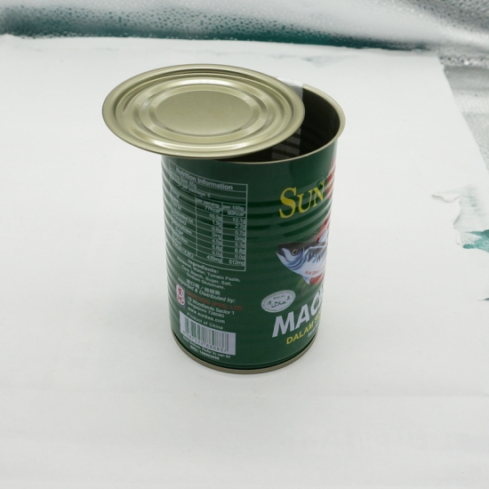 Empty Round Food Metal Tin Can For Fish packing