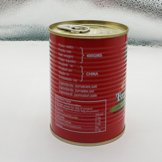 Customize Food Safe Tomato Paste Metal Tin Can