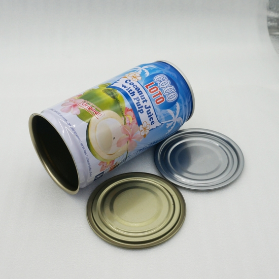 350ml Beverage tin can with SOT  aluminum easy open lid