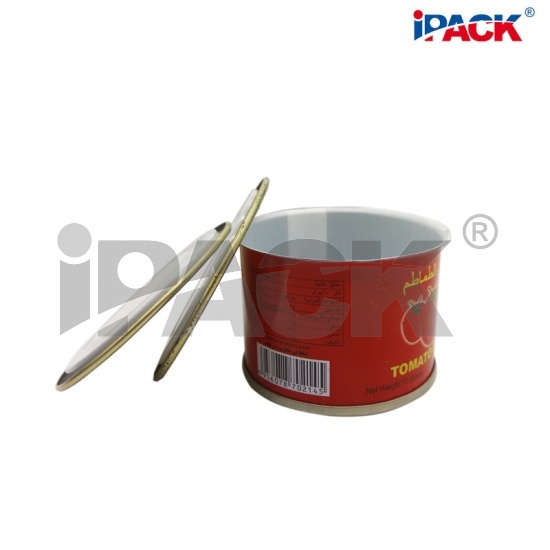 70g Empty Easy Open Tin Can For Tomato Paste Canning