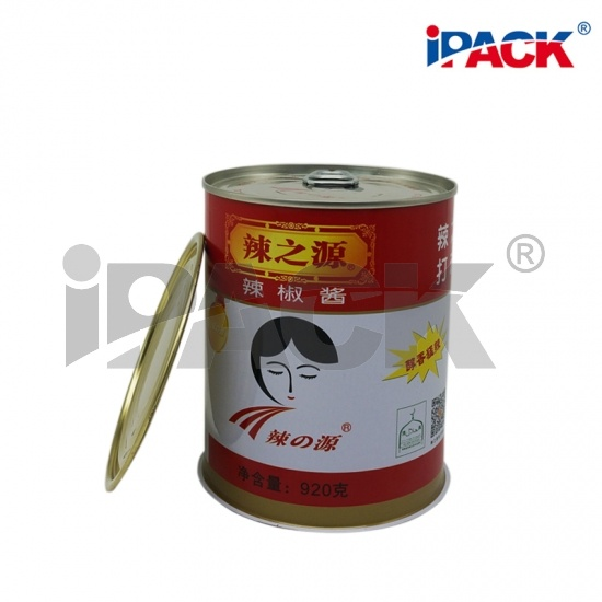 9124# 3 Piece Round Tin Food Can for Food Packaging with EOE