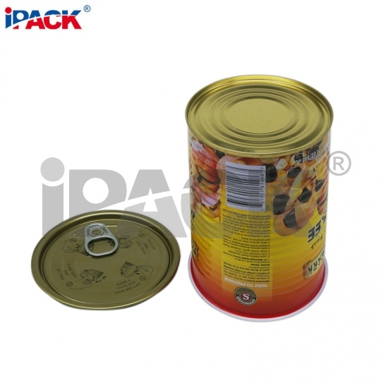 7113 Empty Round Tin Can With Easy Open Lid China Manufacturer