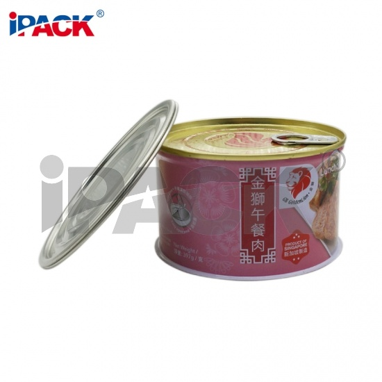 Custom Food Safe Three Piece Luncheon Meat Can For Sale