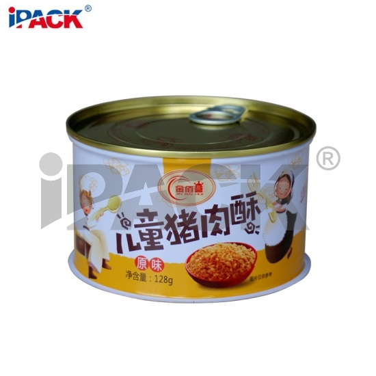 food grade children dried Luncheon meat floss can