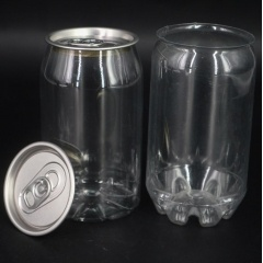 250ml 330ml 350ml 500ml 650ml Pet Drink Beverage Plastic Bottle with Aluminum Lid Round Shape Plastic Beverage Bottle from INTERPACK GROUP INC.