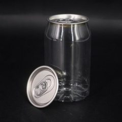 Custom 330ml Wholesale Empty Pet Round Beverage Plastic Bottle for Fruit Juice Packaging with Aluminum Easy Open End from INTERPACK GROUP INC.