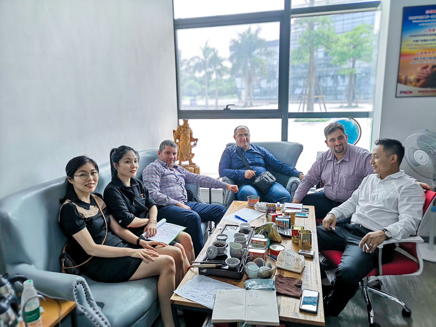 Jordan clients friend visit China interpackgroup