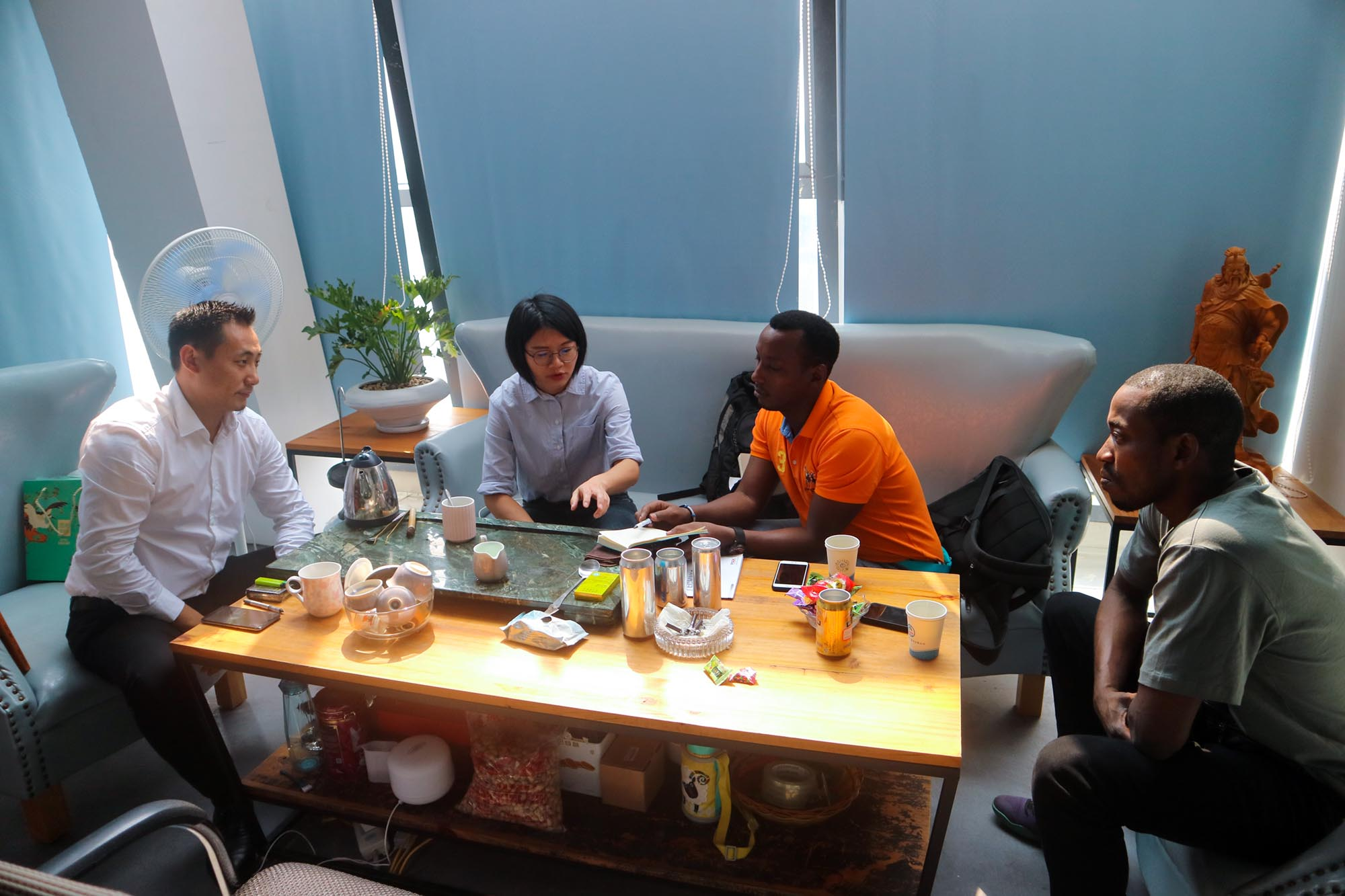 Our African customers are visting Interpack Group.
